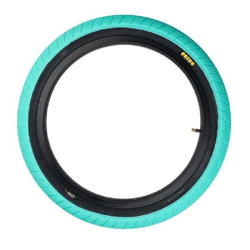 Primo 555C Tyre - Teal With Black Sidewall 2.45""